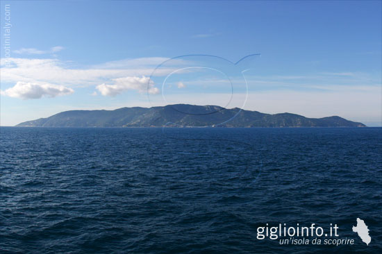 Giglio Island from ferry