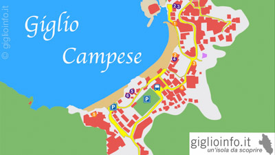 Mappa Giglio Campese