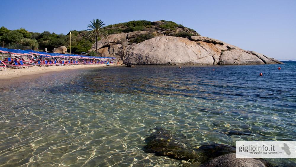 Beaches And Coast Giglio Island Campese Arenella