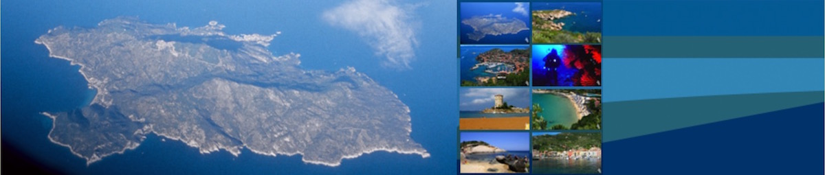 View of the Island of Gilio from an airplane