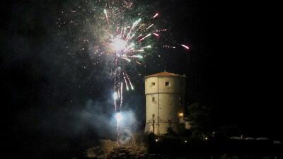 Fuochi d'Artificio alla Festa San Rocca con Torre di Campese