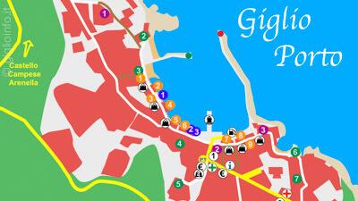 Mappa Preview Giglio Porto