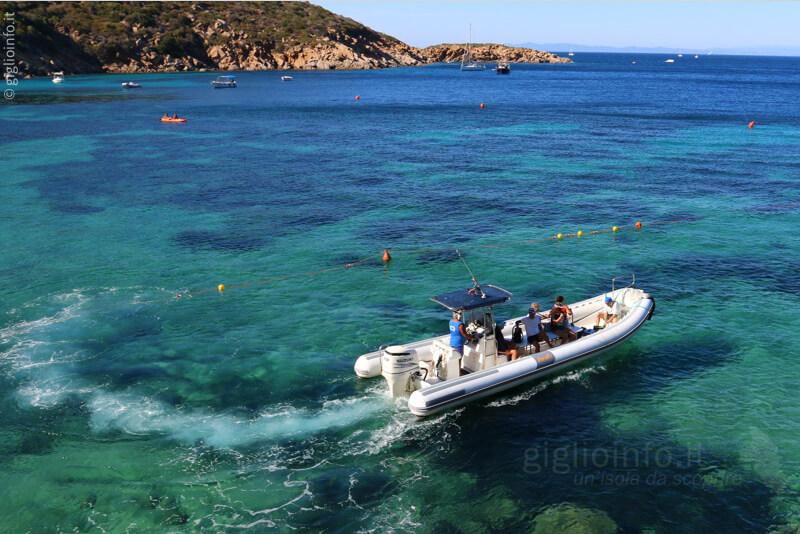 Partenza Taxi Boat Navetta Isola del Giglio