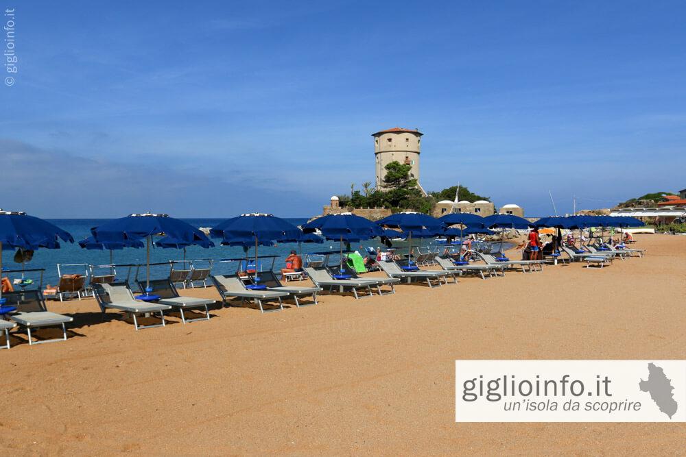 Spiaggia attrezzata spiaggia del Campese, Isola del Giglio