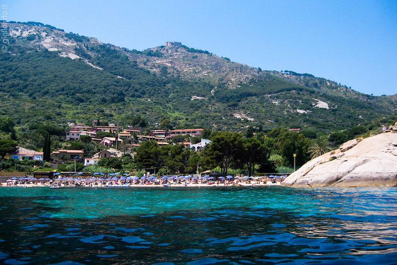 Spiaggia dell'Arenella visto dal Mare, Isola del Giglio