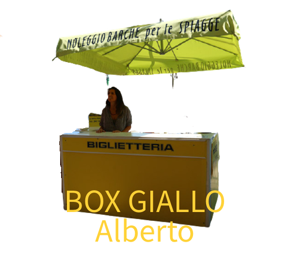 Taxi Boat Box Giallo Alberto Logo