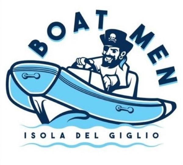 Taxi Boat Boatmen Logo