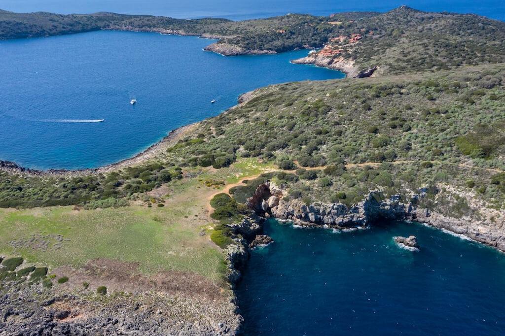 Isola di Giannutri vista dall'alto