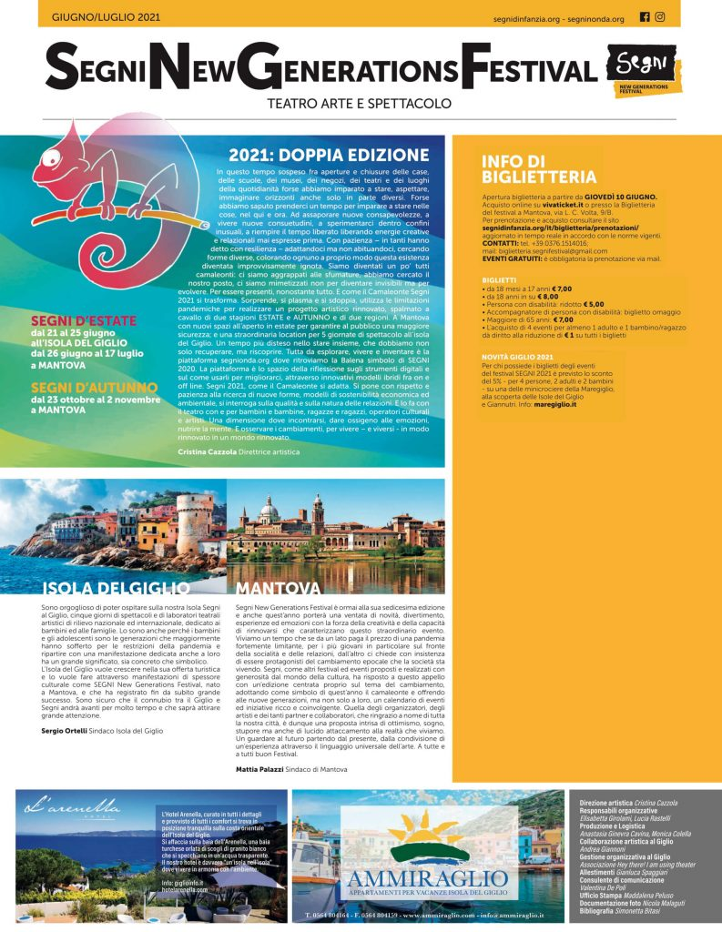 Segni - Festival all'Isola del Giglio Giugno 2021