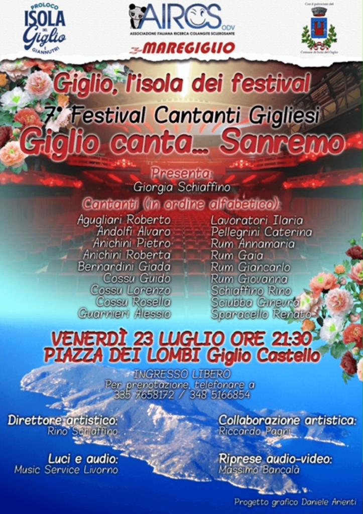 Festival dei Cantanti Gigliesi - Locandina