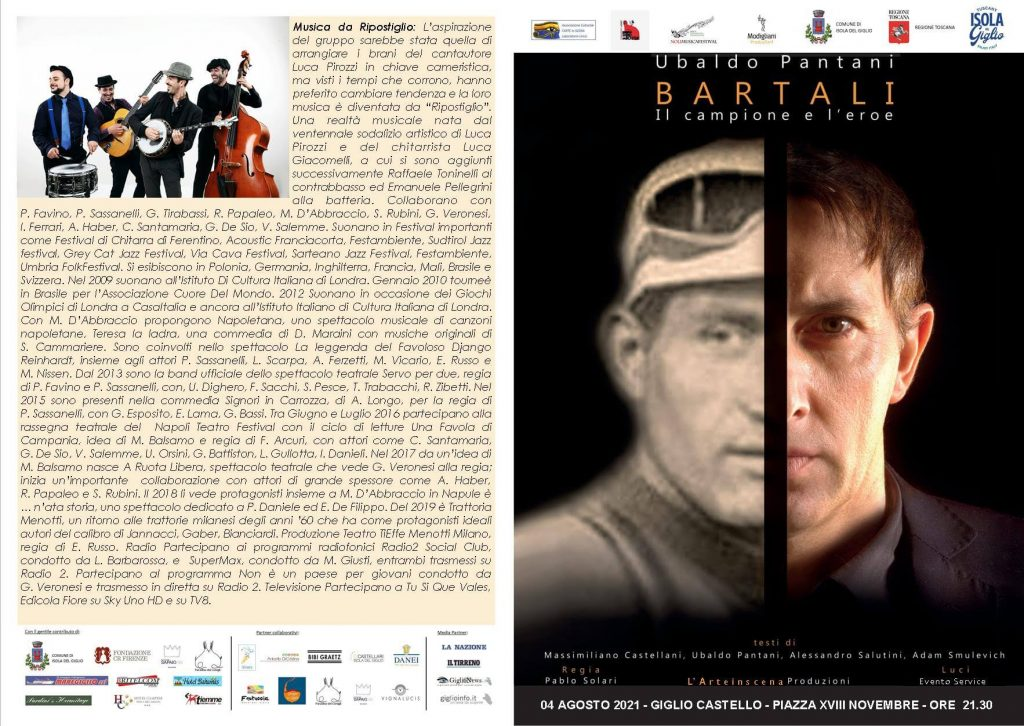 Locandina Il Giglio è lirica Festival 2021 - Bartali