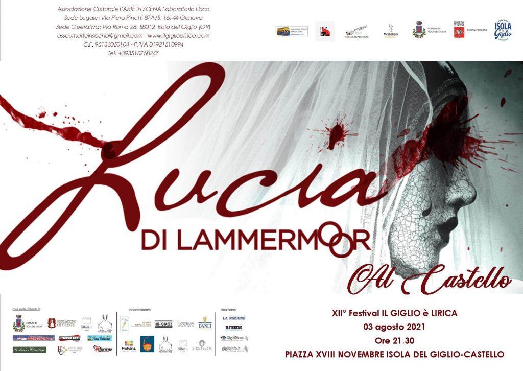 Locandina Lucia di Lammermoor - Il Giglio è lirica Festival 2021