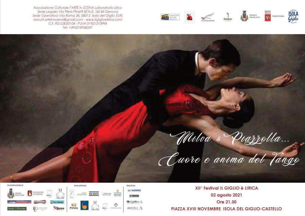 Locandina Milva & Piazzolla Il Giglio è lirica Festival 2021 -