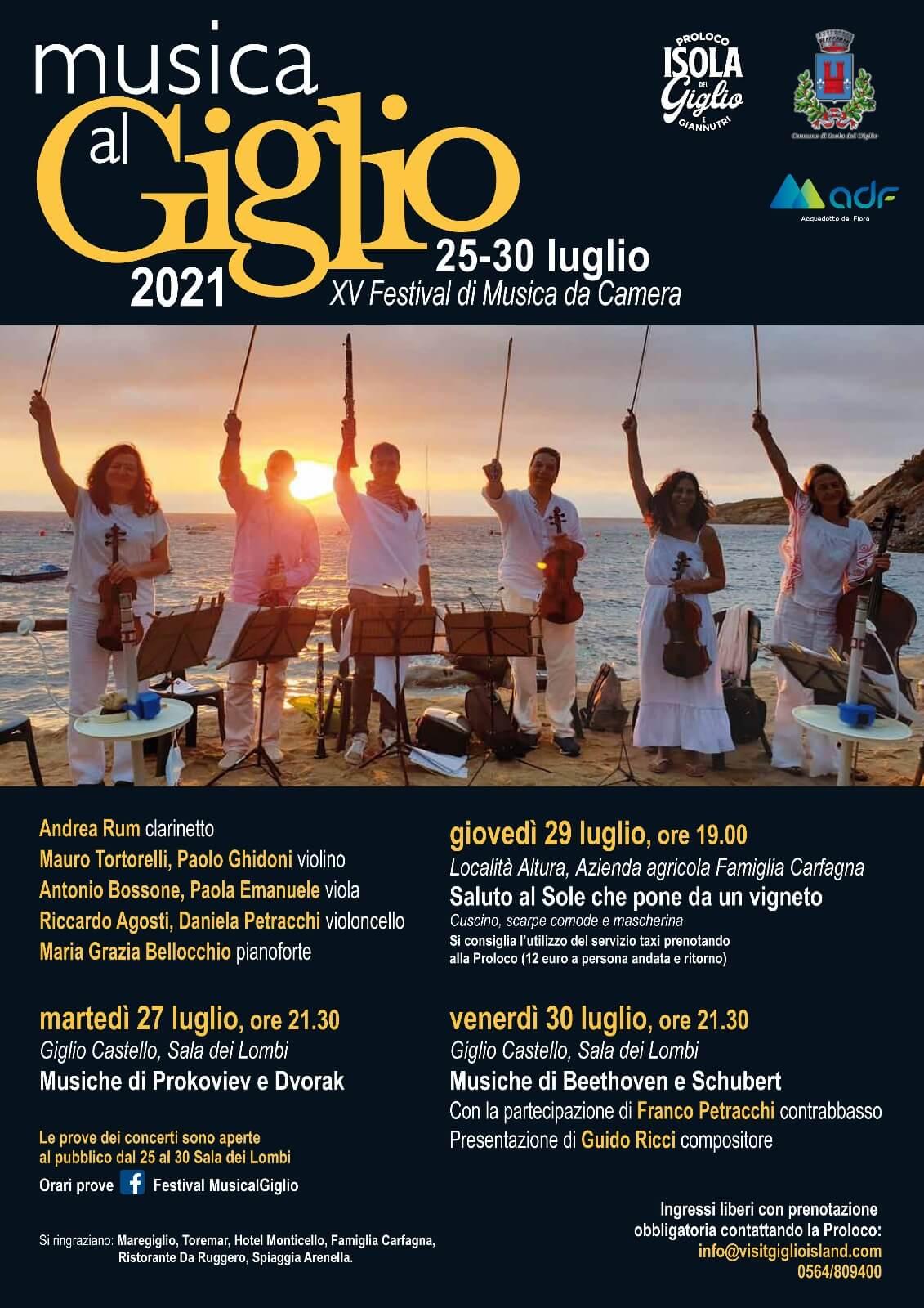 Locandina Festival Musica al Giglio 2021