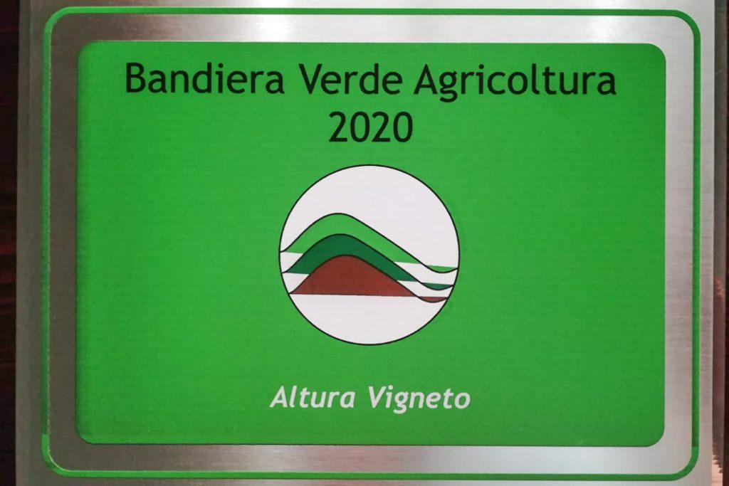 Premio Premio Bandiera Verde Agricultura 2020 Altura Vigneto