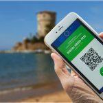 Foto Digital Green Pass davanti alla Torre di Campese Isola del Giglio
