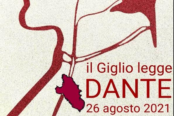 Banner Evento Isola del Giglgio legge Dante 26 Agosto 2021