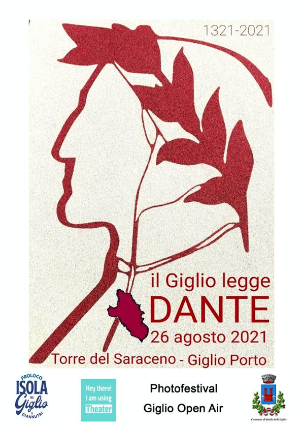 Locandin Evento Isola del Giglgio legge Dante 26 Agosto 2021