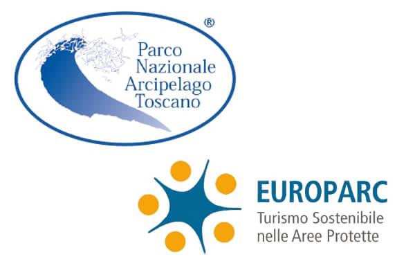 Logo Europarc e Parco Arcipelago Toscano