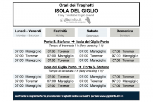 Orari dei Traghetti per Giglio - Featured Image