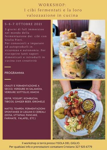Locandina Evento Isola del Giglio: Workshop Terramare Ottobre 2021