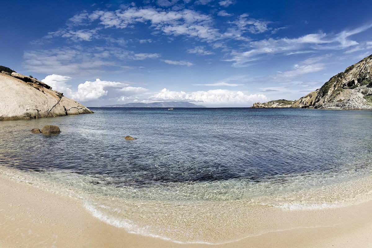 Spiaggia dell'Arenella, Hotel Arenella, Isola del Giglio