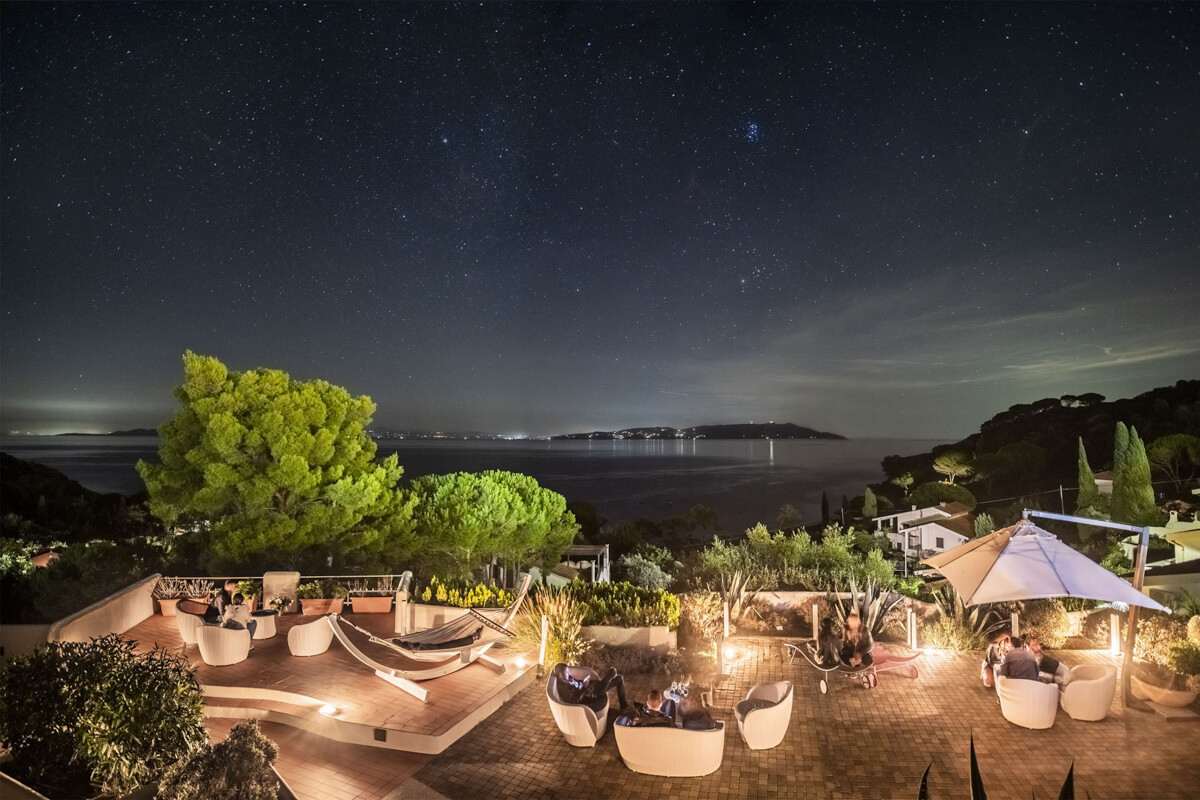 Cielo Stellato Terrazza, Hotel Arenella, Isola del Giglio
