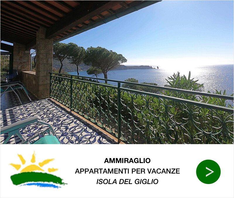 Isola del Giglio Appartamenti Ammiraglio Banner